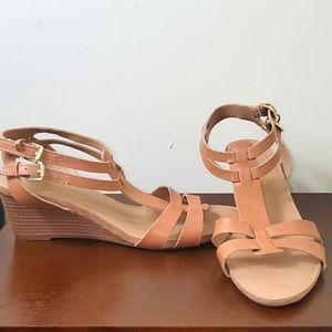 Franco Sarto Leather Strap Low Heel Shoes